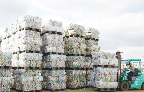 Delivery of used PET bottles